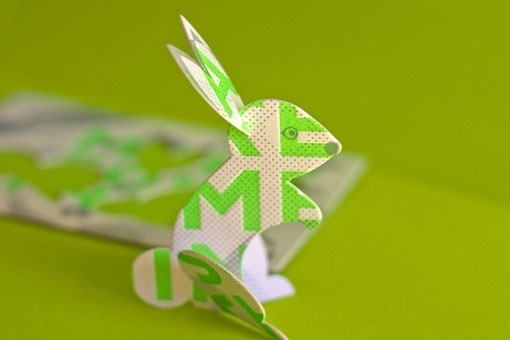 design work life » The Hungry Workshop: The Rabbit Hole Promo #greeting #interactive #letterpress #mailing