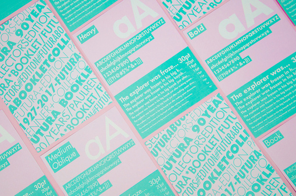 Rebecca Hakola   http://hakolastudios.com #pink #print #mint #futura #layout #typography