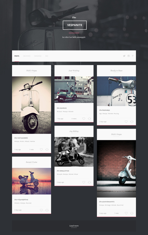 Vespa_page #web #blog