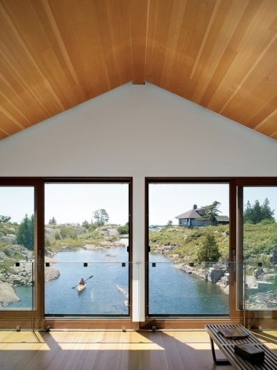 Floating House, Lake Huron - Slideshows - Dwell #lake #architecture #house
