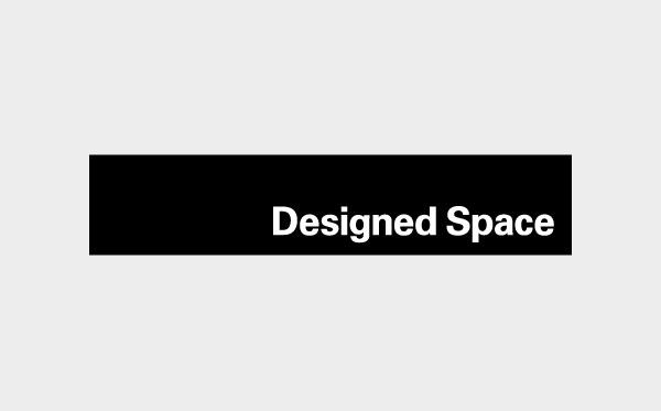 Designed Space Logo #logotype #white #designedspace #black #logo #clean #identity #minimal #type #typography