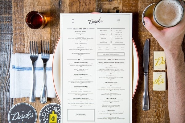 Dusek's : The Studio of Dan Blackman #menu #restaurant
