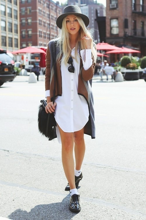 (22) Likes | Tumblr #white #shirt #hat #street #fashion #grey