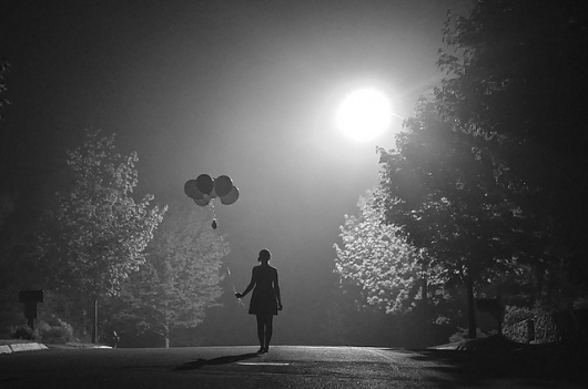 Untitled | Flickr - Photo Sharing! #night #photography #woman #balloons