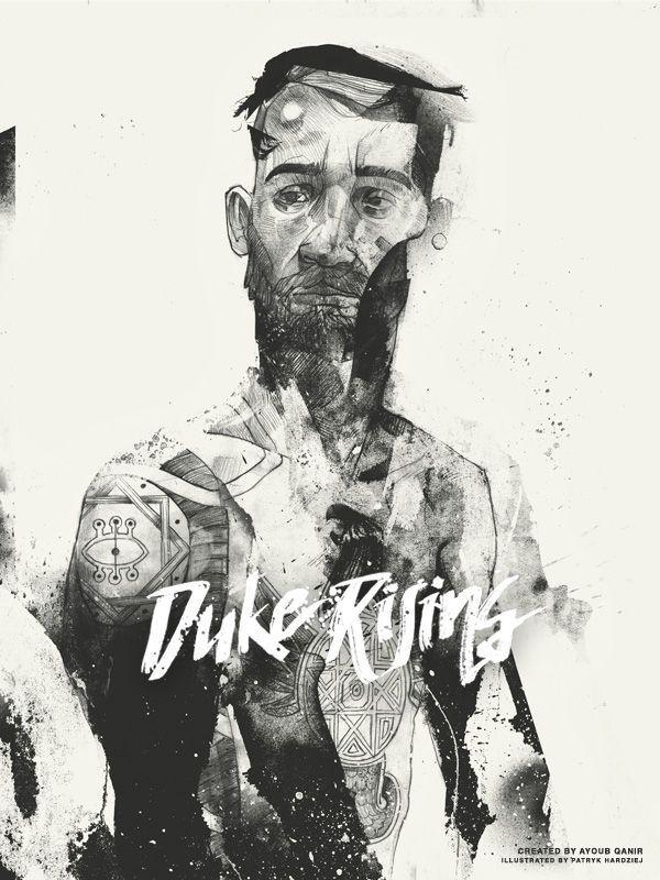 Duke Rising by Ayoub Qanir #illustration #pencil #character #drawing