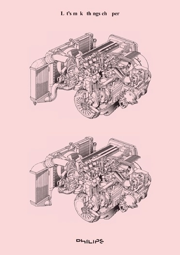 mies van roy - typo/graphic posters #pink #van #engine #roy #poster #mies #drawing #typography