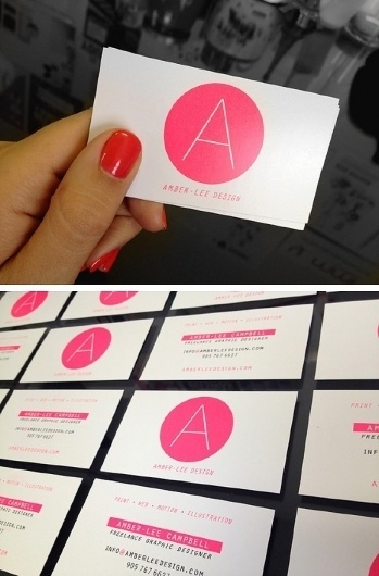 Ⓐ Ⓒ / Pinterest #cool #bright #business #pink #design #pantone #logo #fun #cards #awesome #neon