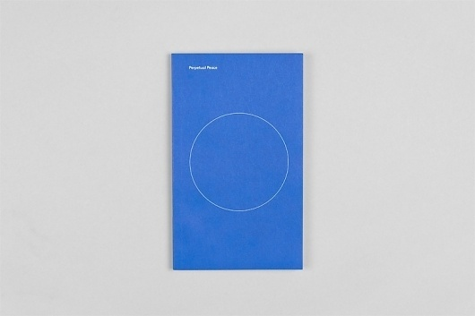 Project Projects — Perpetual Peace booklet #peace #book #project #typography