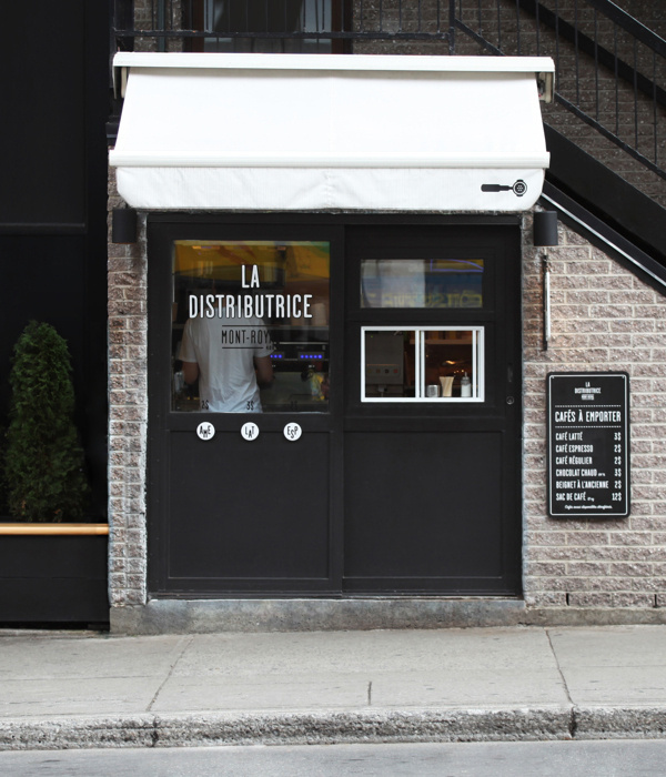 Smallest cafe place in North America, visual identity #coffee #identity #exterior