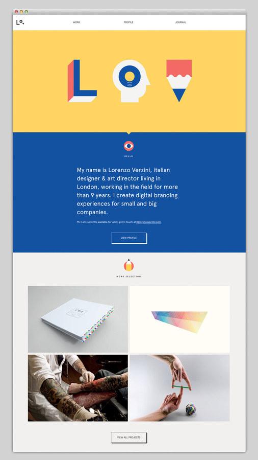 Lorenzo Verzini #website #layout #web