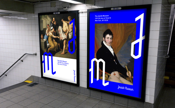 Creative Review - Sagmeister & Walsh rebrand New York's Jewish Museum #branding #logo #ad #promotion