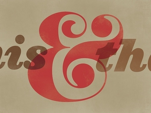 "Beautiful Type — ""This and That"" , a recent revival of Pistilli... #typography"