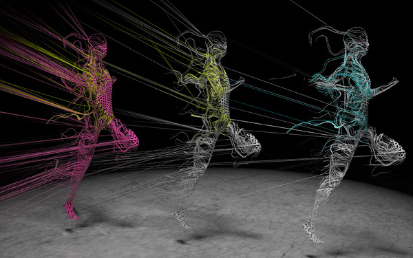 Nike Flyknit Lunar 1 Campaign on Behance #rope #wire #3d