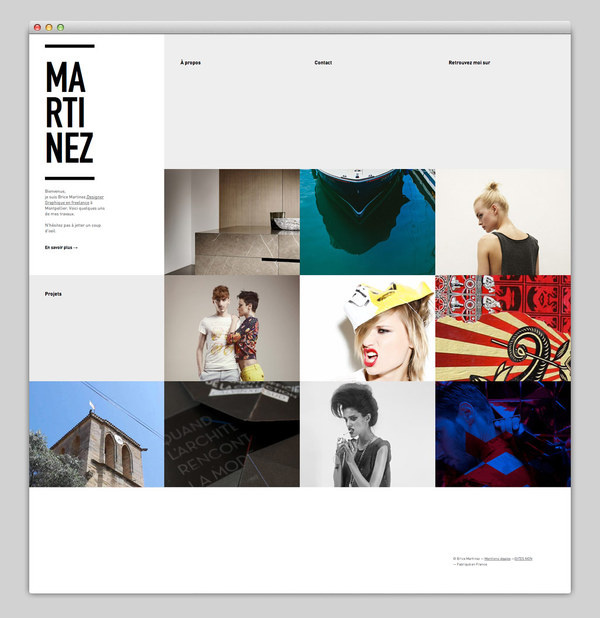 Brice Martinez #based #design #website #grid #layout #web