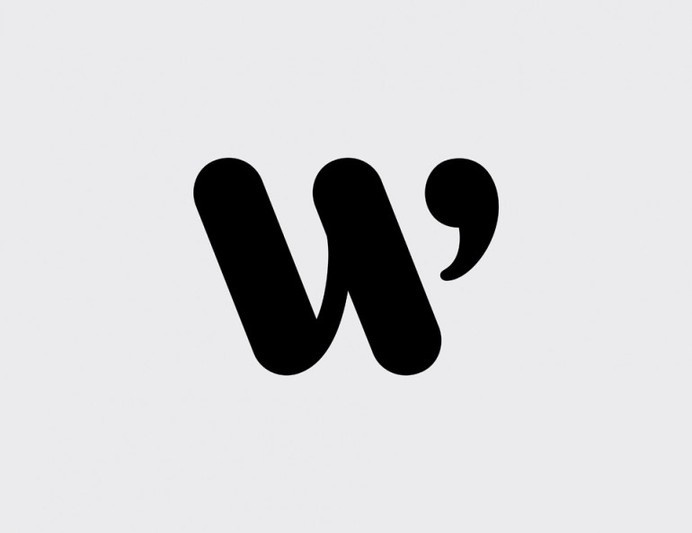 Logo design symbol – W #inspiration #white #design #black #symbol #and #logo