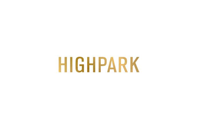 Highpark #gold #foil #logotype #sans-serif