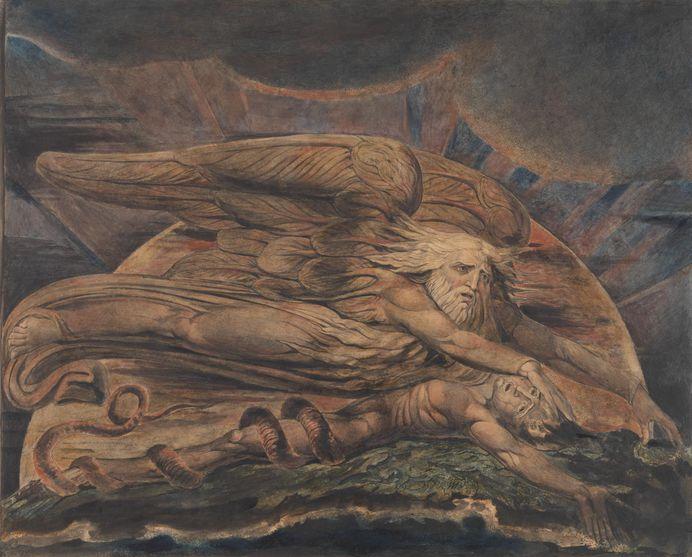 'Elohim Creating Adam', William Blake, 1795-c.1805   Tate