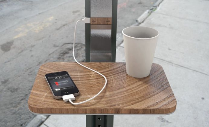 charging gadgets with solar powered urban infrastructure