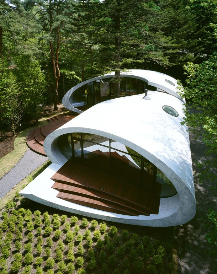 Shell House   Futuristic Forest Home by Artechnic