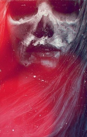 Almost, but not a beast on the Behance Network #design #magenta #photomanipulation #women #photography #poster #skull