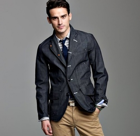 Nanamica Gore-Tex Indigo Field Jacket | Cool Material #fashion #jacket