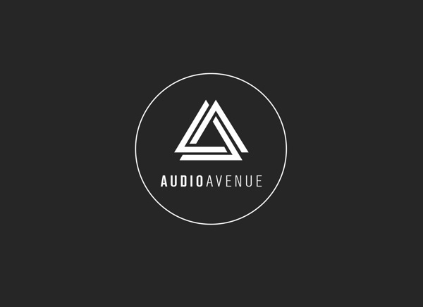 Audio Avenue on Behance #business #modern #card #black #logo #triangle #music #type #typography