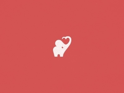 Dribbble - Too Cute Elephant by Julius Seniūnas #logo #elephant