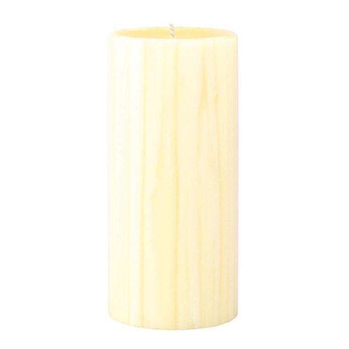 Marbled Pillar French Vanilla & Jasmine Tea Scented Candle, 15cm x 7 cm