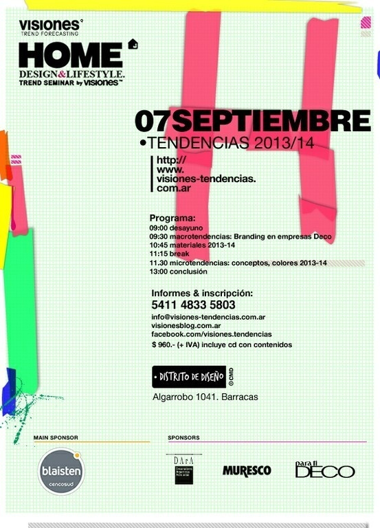 poster - flyer for Home Design & Lifestyle seminar #tape #flyer #design #home #poster #menthol