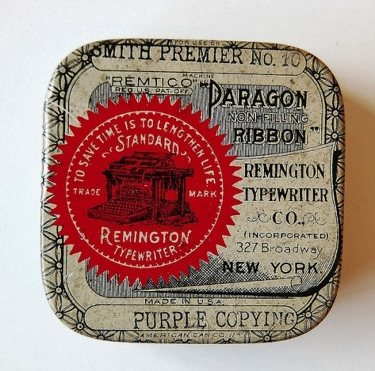 Vintage Packaging: TypewriterTins - TheDieline.com - Package Design Blog #ribbon #typewriter #typography