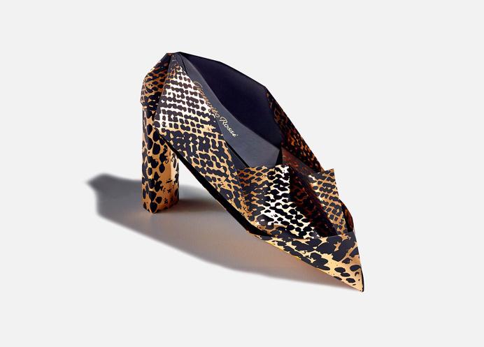 origami shoe #invite #design #origami #print #foil #fashion