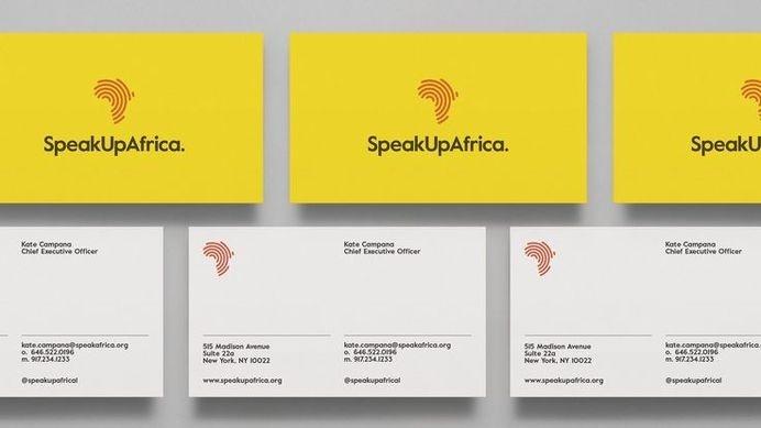 SpeakUpAfrica — Dia #card #identity #typography