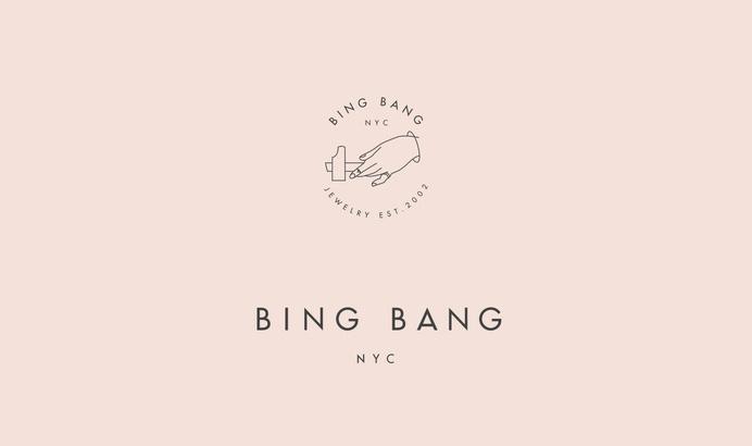 Bing Bang nyc Jewelry branding #graphic design #branding #print #design #visual identity