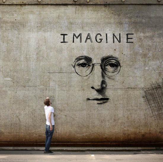 Imagine #music #imagine #mural #lennon
