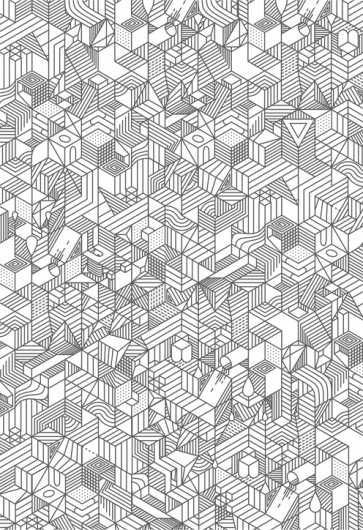 Illustration | nvlnvl #pattern #white #black #geometric #illustration