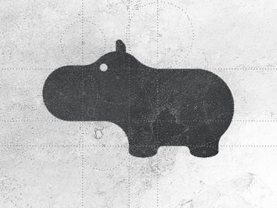 Hippo logo design by Gert van Duinen #logo #animal #iconography #hippo
