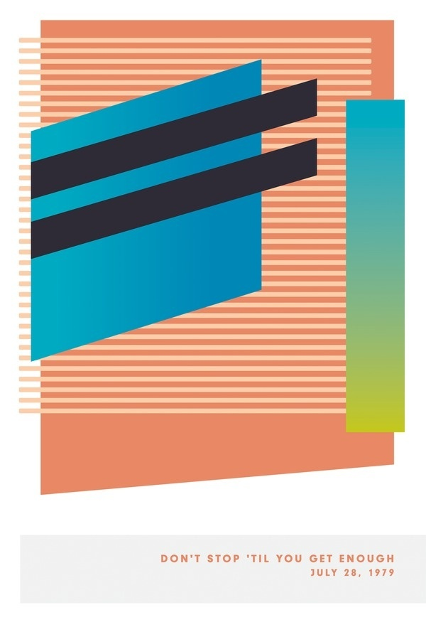James Kirkup | Foragepress.com #poster #music #minimal stripes