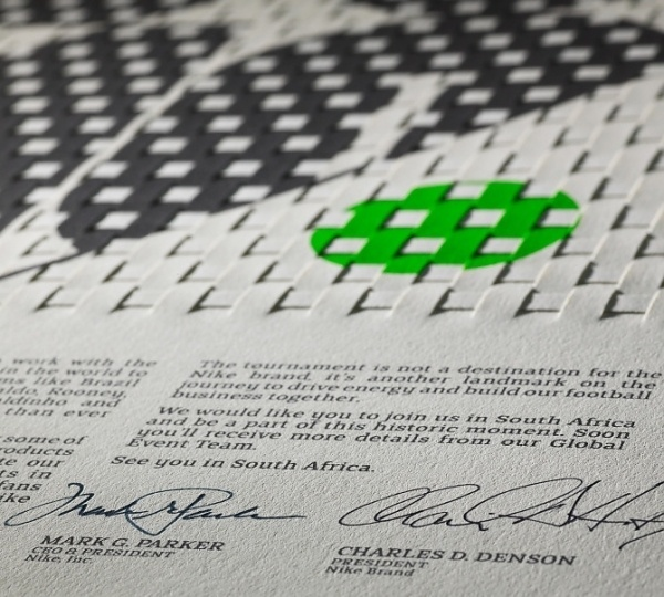 Nike 2010 World Cup Invitation - NMK #weave #print