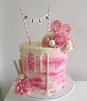 Melting icing cake