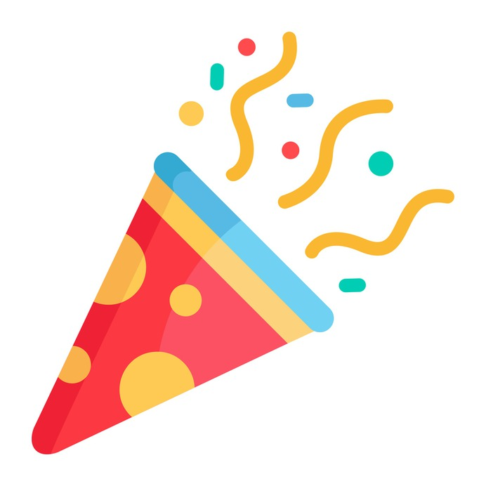 See more icon inspiration related to birthday, fun, confetti, party, celebration, new year and birthday and party on Flaticon.