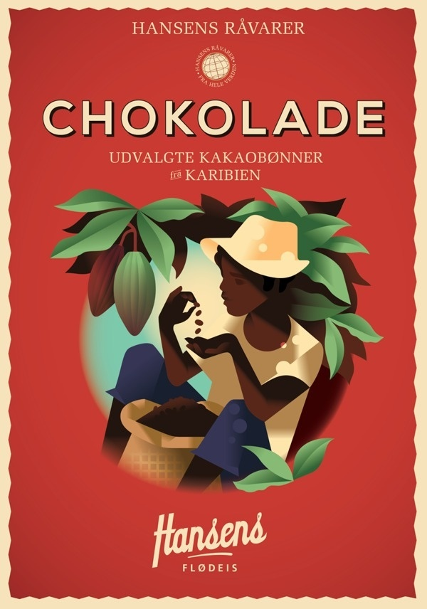 Hansens Posters 2013 #hansens #berg #chocolate #mads #illustration