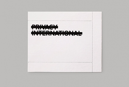 The none-of-your-business card #card #perforated #business