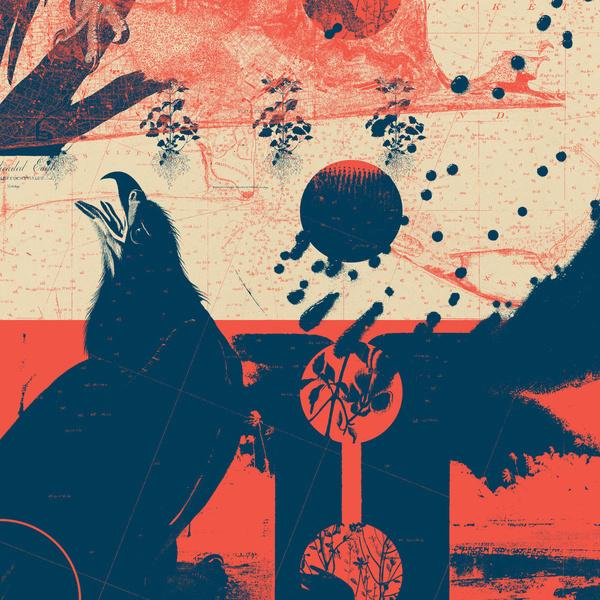 Fragments Tile 6/12 Art Print #mountain #print #geometric #map #bird #grid #art #tile #flowers