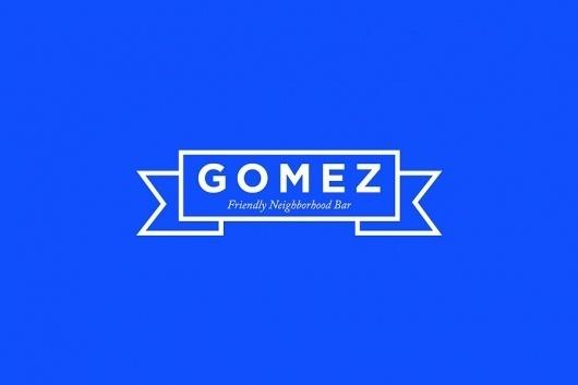SAVVY STUDIO | Gomez #branding #bar #studio #logo #savvy
