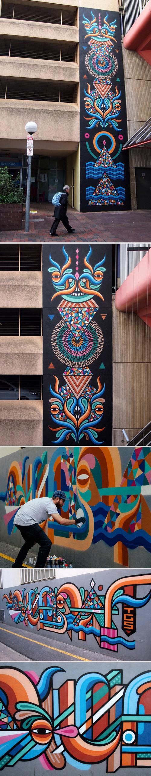 Oi You! #graffiti #painting #street art #wall #colours #beastman