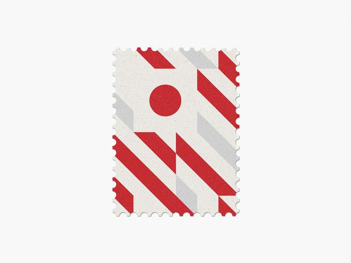 Japan #stamp #graphic #maan #geometric #illustration #minimal #2014 #worldcup #brazil