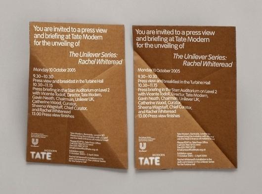 Rachel Whiteread: Embankment invitation | Cartlidge Levene #print #design #typography