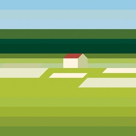 Landschaft Mit Haus - but does it float #painting