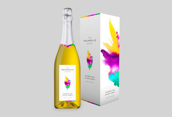 TheAquarelleEstate #packaging #drink #label #bottle