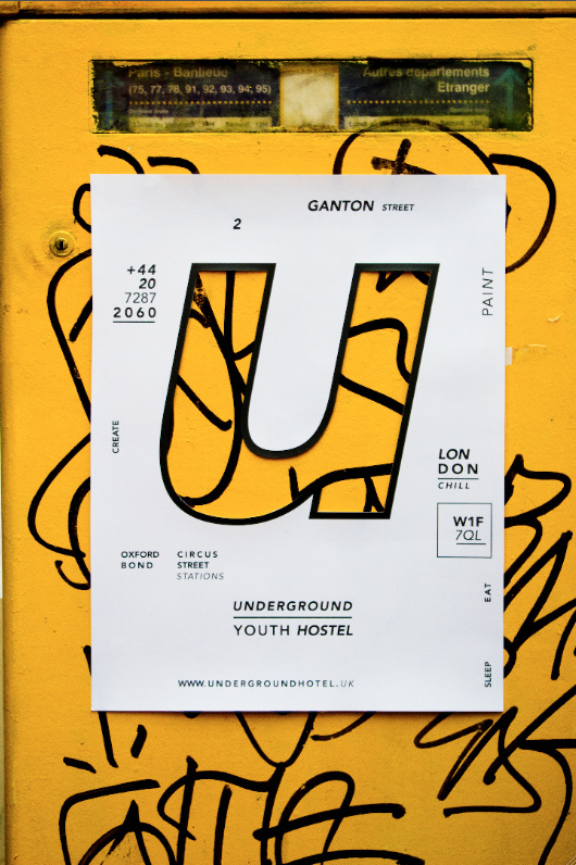 Underground Youth Hostel Identity by Laura Beretti